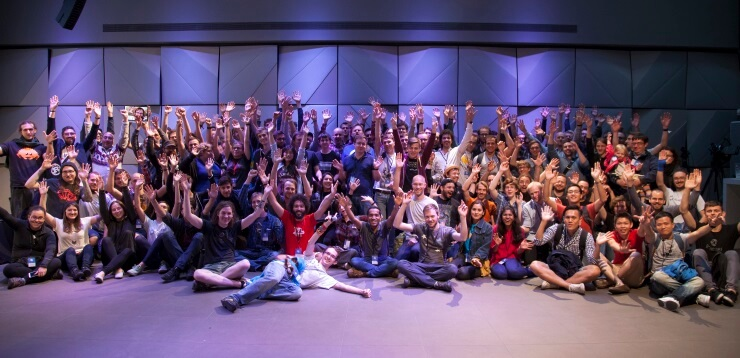 Group picture from RustFest Berlin