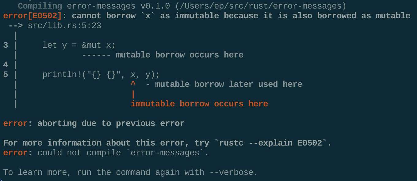 A terminal screenshot of the 1.43.0 error message.